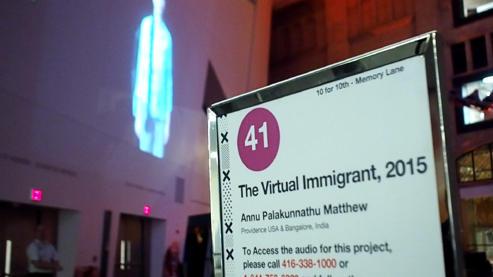 The Virtual Immigrant public installation for Nuit Blanche