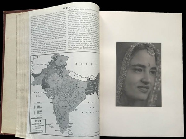1947 Encyclopedia with iPad mini. Partition 1947, India Pakistan